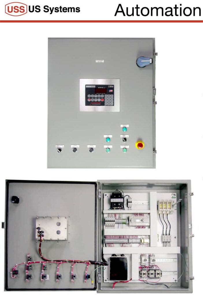 FIBC Bulk Bag Filling Machine Control Panel Showing The Outside Of And Electrical