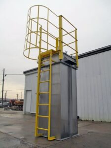 US Systems Bin Vent with Top Access, Ladder, and Guard Rails for Safety