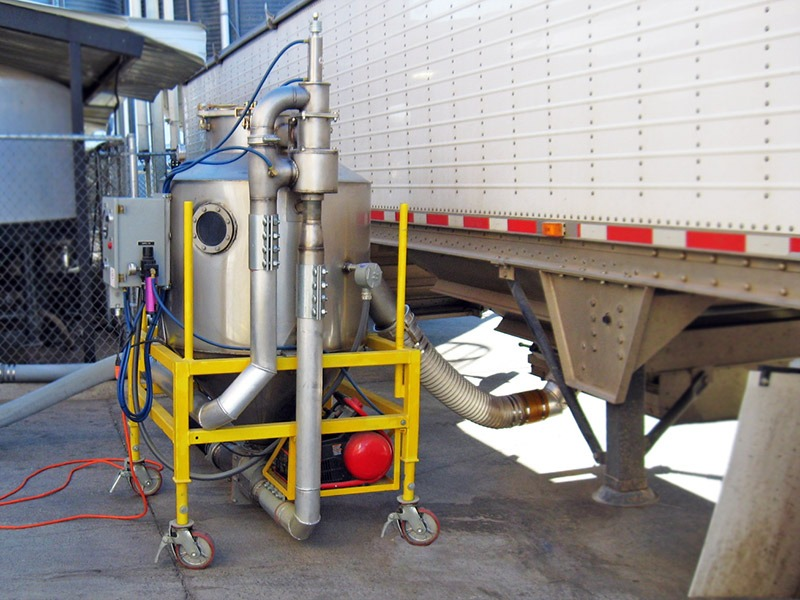 Portable Truck Unloading Hopper : Portable us systems