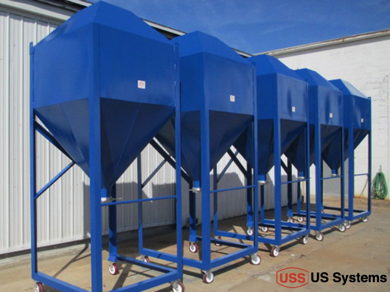 US Systems Portable Hoppers