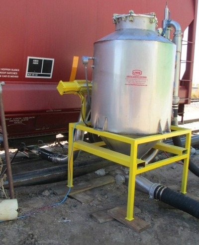 US Systems Portable Pneumatic Railcar Unloading Pot