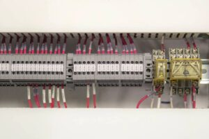 US Systems Control Panel Interior Wiring Block
