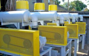 US Systems Blower Packages lined up