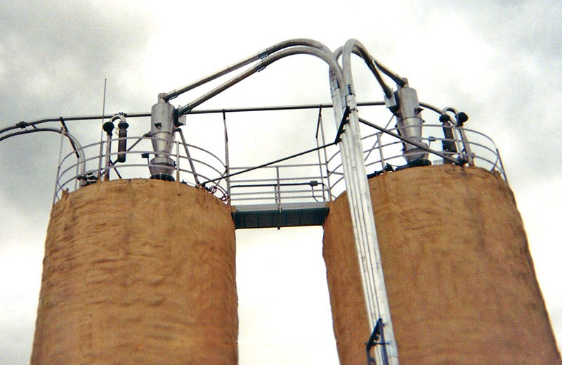 US Systems Cyclone Separators on Silos