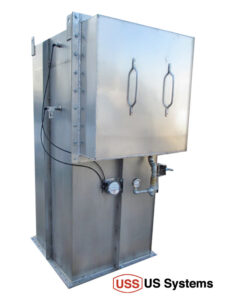 This US Systems heated and insulated bin vent is specially made for installation in the Arctic Circle.