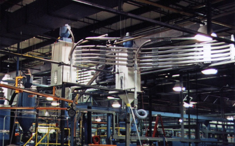 In-Plant Transfer Convey Lines for Plastic Pellets to an Extruding Process for Wire Coating