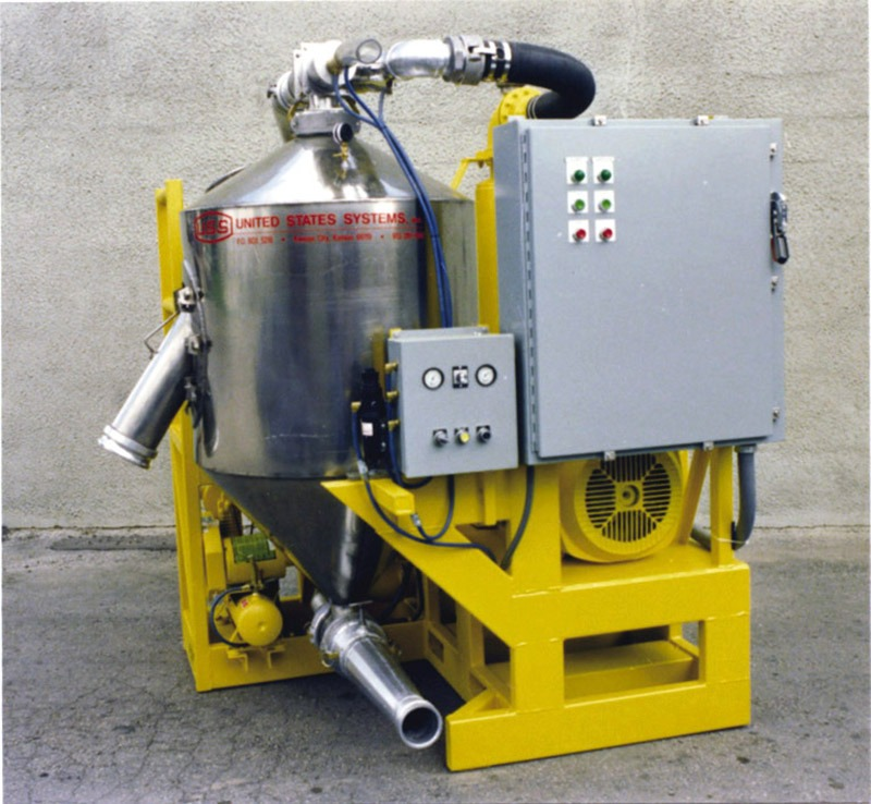 US Systems Portable Pneumatic Conveying Pot